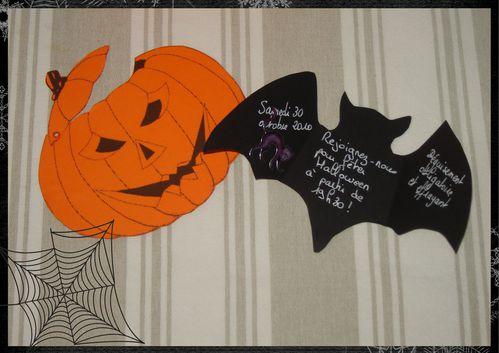 carte halloween chauve-souris et citrouille (page 3)