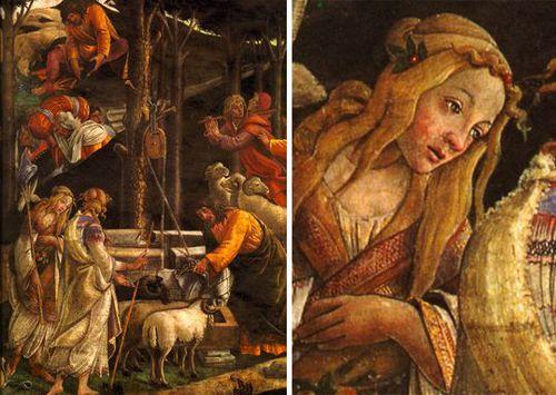 Botticelli les epreuves de moise moses tentation (2)