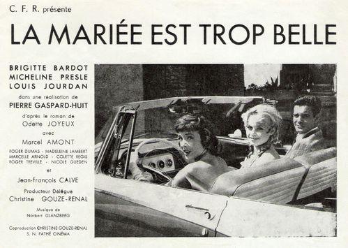 La Mariée est trop belle (Bardot - Presle - Jourdan) - Blo
