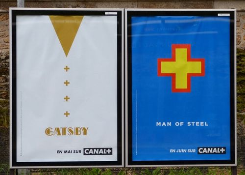 affiche canal + cinéma Gatsby Man of steel