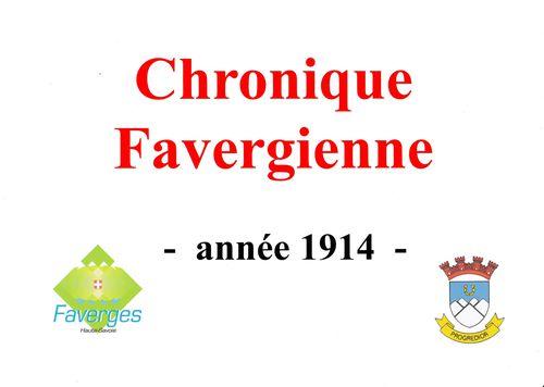 Chronique Favergienne de l'année 1914