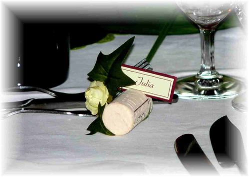 MARIAGE-bouchon marque place