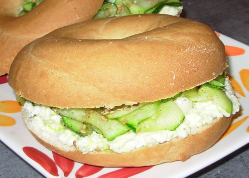 Bagels chèvre, romarin, courgette3