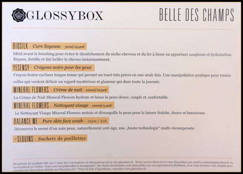 Glossybox descriptif