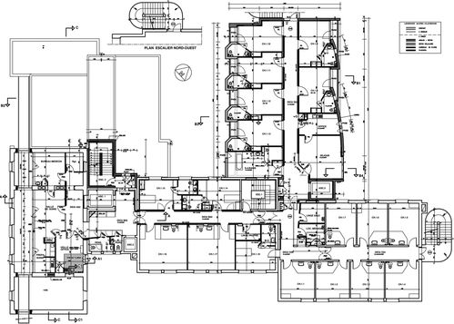 Plan d 39 architecture d 39 une maison de retraite for Plan d architecture