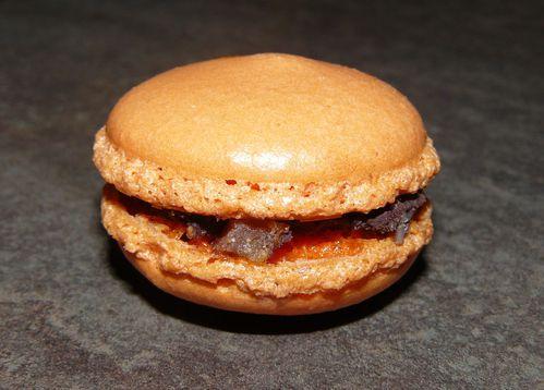 macarons chocolat orange confite 2