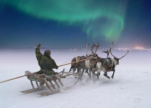 rennes et aurore boréale