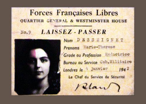 787a3 Laissez-passer de Marie-Thérèse Desseignet
