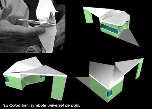 bâtiment origami