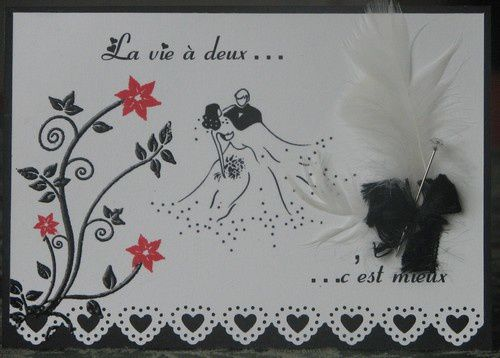 cartes de f licitations de mariage. Black Bedroom Furniture Sets. Home Design Ideas