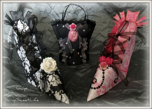 Chaussures et corset glamour