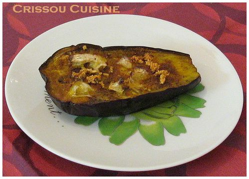 aubergine comfite au curry