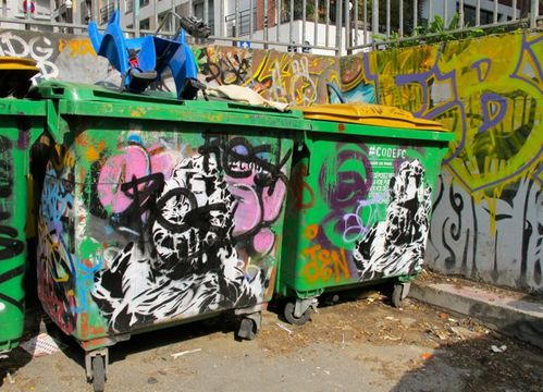 poubelle Street-art Frigo 0