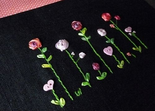 Sac aux roses-broderie