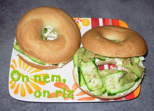Bagels chèvre, romarin, courgette1