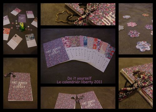 Do it yourself calendrier liberty