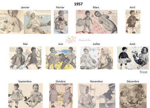 Modes et Travaux - Patrons poupée 1957