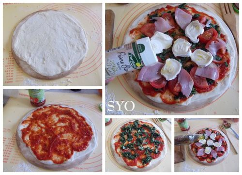 Pizza aux orties tomate bacon chevre-Mamigoz (8)