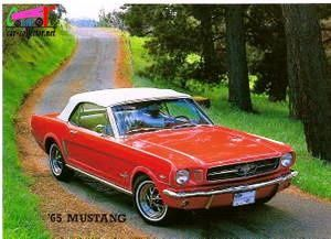 carte-postale-ford-mustang-1965
