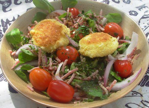 Salade de babybel panés2