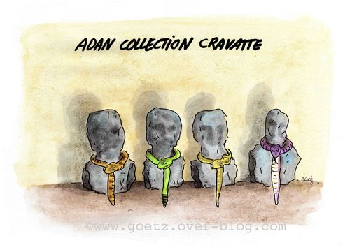 blog- serpent cravatte collection, dessin Goetz