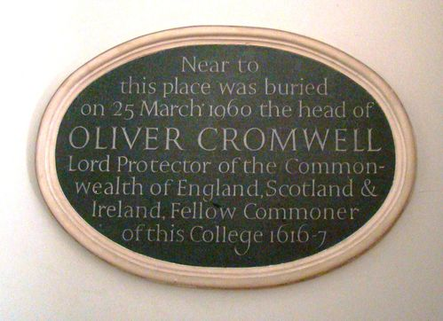 1 plaque mortuaire (Sidney Sussex college)