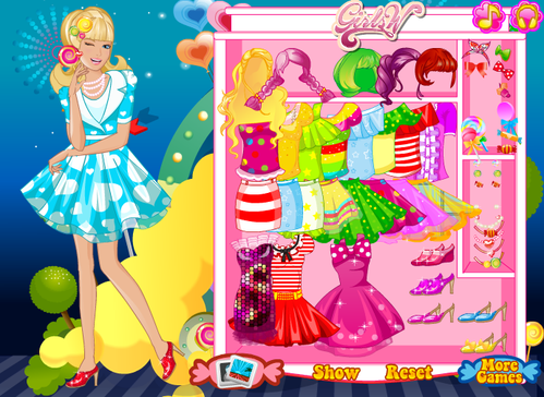 Barbie dress up games at dressup24h