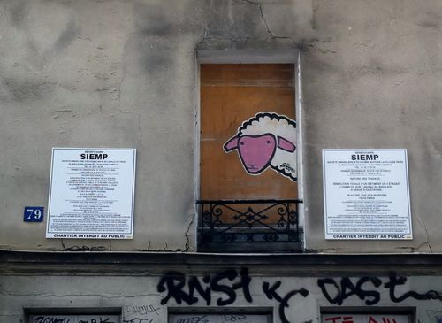 Sheepest mouton street art Paris