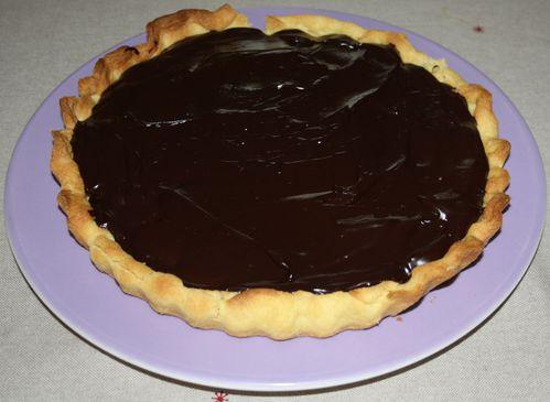 Tarte chocolat banane 1