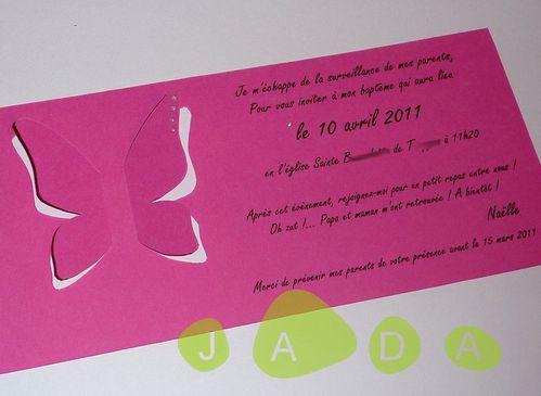 Exceptionnel naissance - JADA Faire parts personnalisés de mariage et naissance QU52
