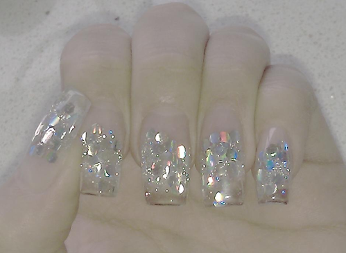 Meine Neuen Fingernagel Nathalie S Glitzer Mitzer Welt