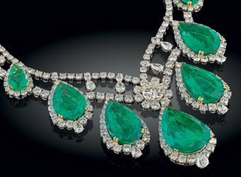 a magnificent emerald and diamond necklace by jahan d536475