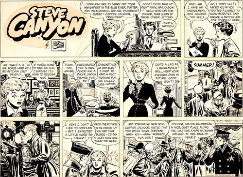 Milton-Caniff-Steve-Canyon-Sunday-Comic-Strip-Original-Art-.jpg