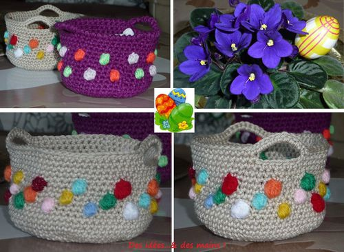 Panier Pques crochet
