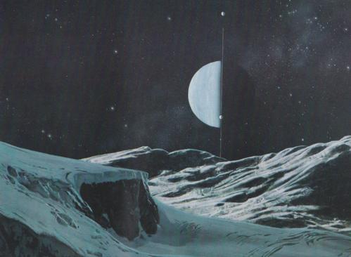 Uranus vu de Titania
