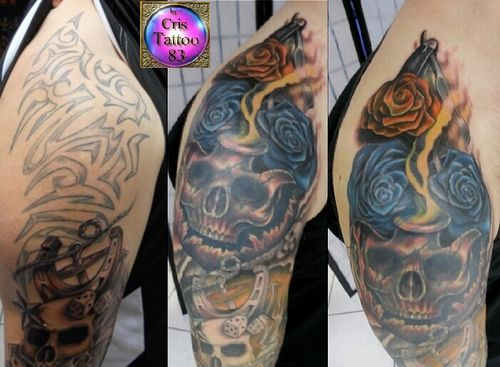 Recouvrement-Cover-Skull-Roses
