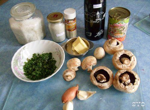 Mini cocottes-Champignons farcis aux escargots-Mamigoz (1)