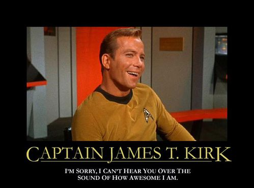 CAPTAIN KIRK ALTERNATIVE MOTIVATIONAL POSTERS