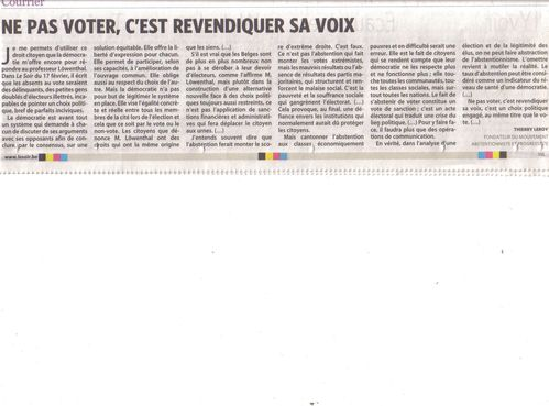 article ne pas voter