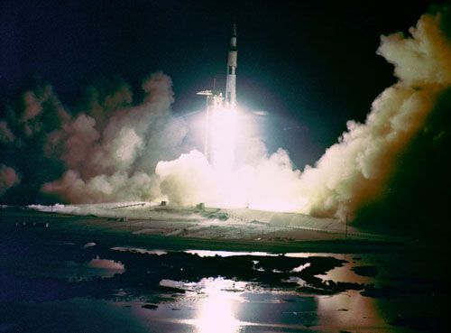Le lancement d'Apollo XVII en 1972 (NASA)