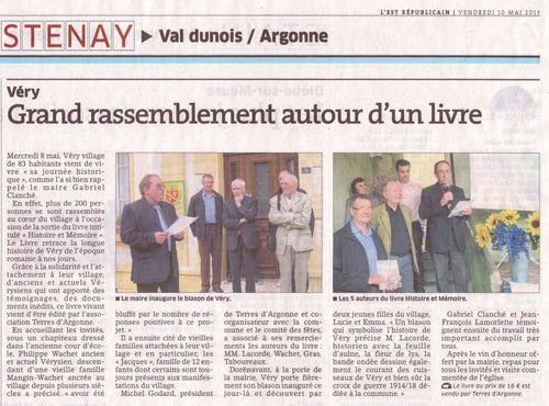 Véry article ER 8 mai 2013