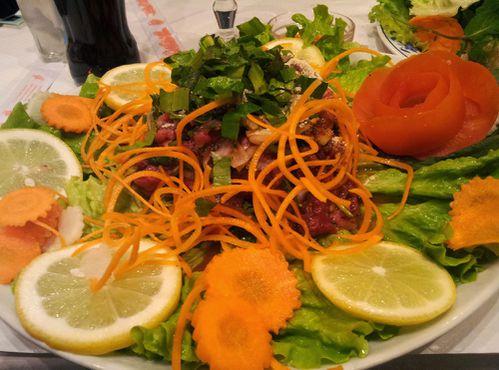bambou salade boeuf citron
