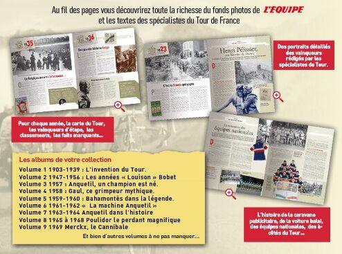 La grande histoire du tour de france racontée par l'Equipe
