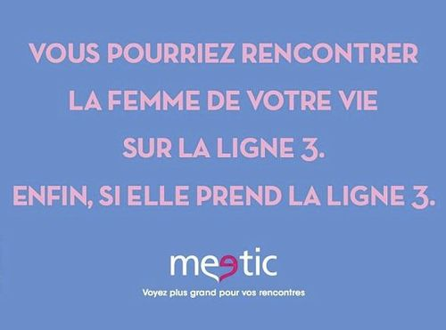 affiche meetic ligne 3