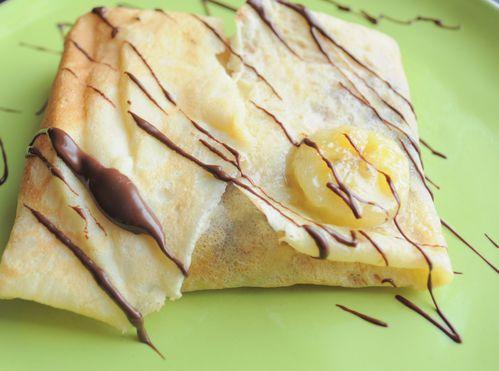 choc banane crepe