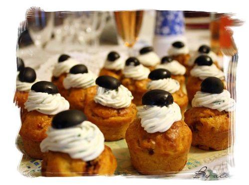 cupcake tomates séchées, basilic et olive c