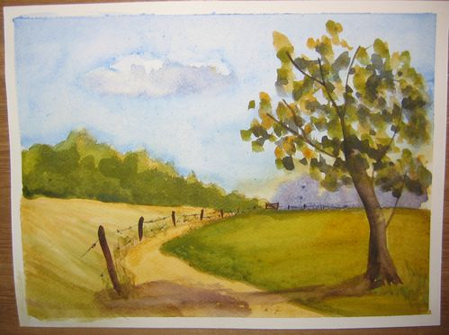 A simple landscape le blog d 39 elhenfr - Peinture facile a faire ...