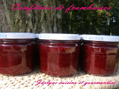Confiture de framboises du verger