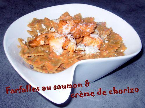 Farfalles au saumon & crème chorizo2