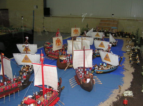 galère romaine et egyptienne playmobil